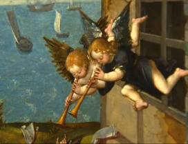 24. Detail: music making angels