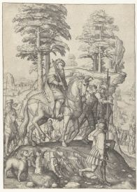 8. Lucas van Leyden, David and Abigail, engraving, 1505-9, Rijksmuseum
