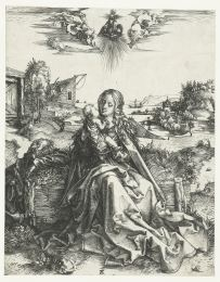 16. Albrecht Dürer, Holy Family with the Dragonfly, engraving, c. 1495. Rijksmuseum