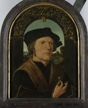 37. Jan Gerritsz van Egmond van de Nijenburg, newly attributed to Jacob Cornelisz, c. 1518, 41.5x33.5cm, Rijksmuseum