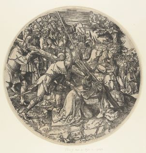 13. Christ carries the Cross from the Large Round Passion, ca. 1511-14, 35x28.5 cm, Rijksmuseum (without borders)