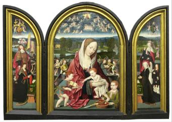 30. Virgin and Child with Joris Sampson and Engelken Coolen, c. 1512-15, Museum for Religious Art, Uden