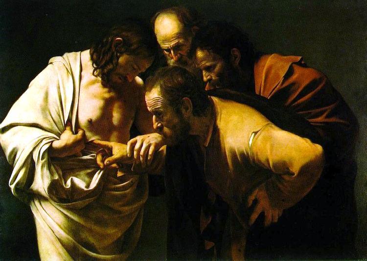 La incredulidad de Santo Tomas. Caravaggio