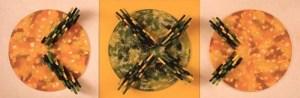 Рон Костинюк. З циклу Складні кольори. 1974. Структура-рельєф (триптих)