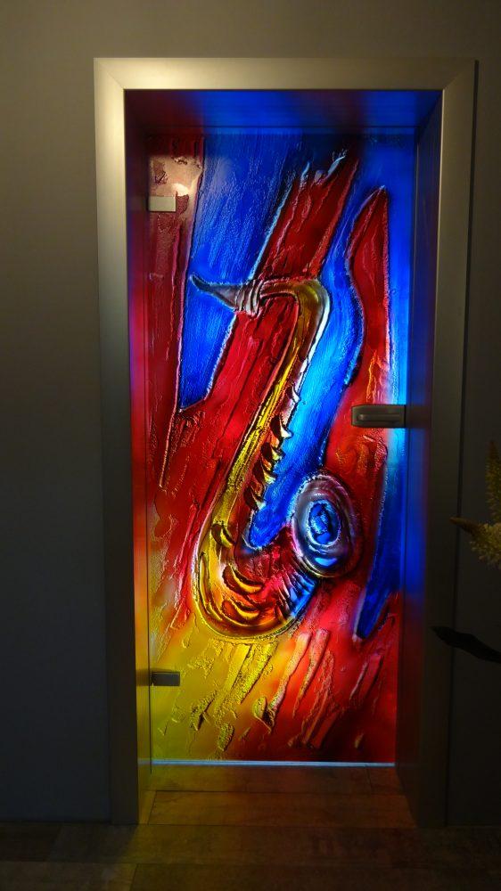 glasfusing binnendeuren  saxofoon