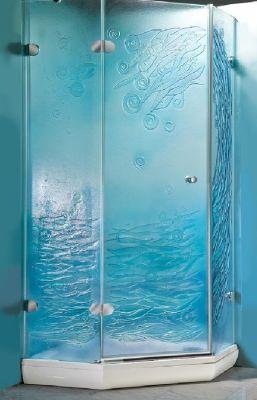 douchecabine glasfusing 03 blauw