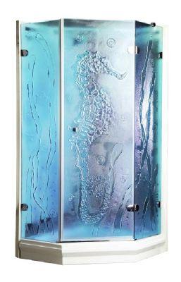 douchecabine glasfusing 04 blauw zeepaardje