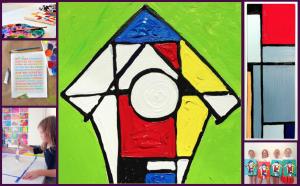 Artist Piet Mondrian Inspired