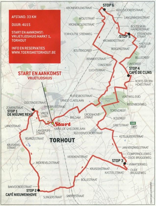plan arthur naeyaert fietsroute