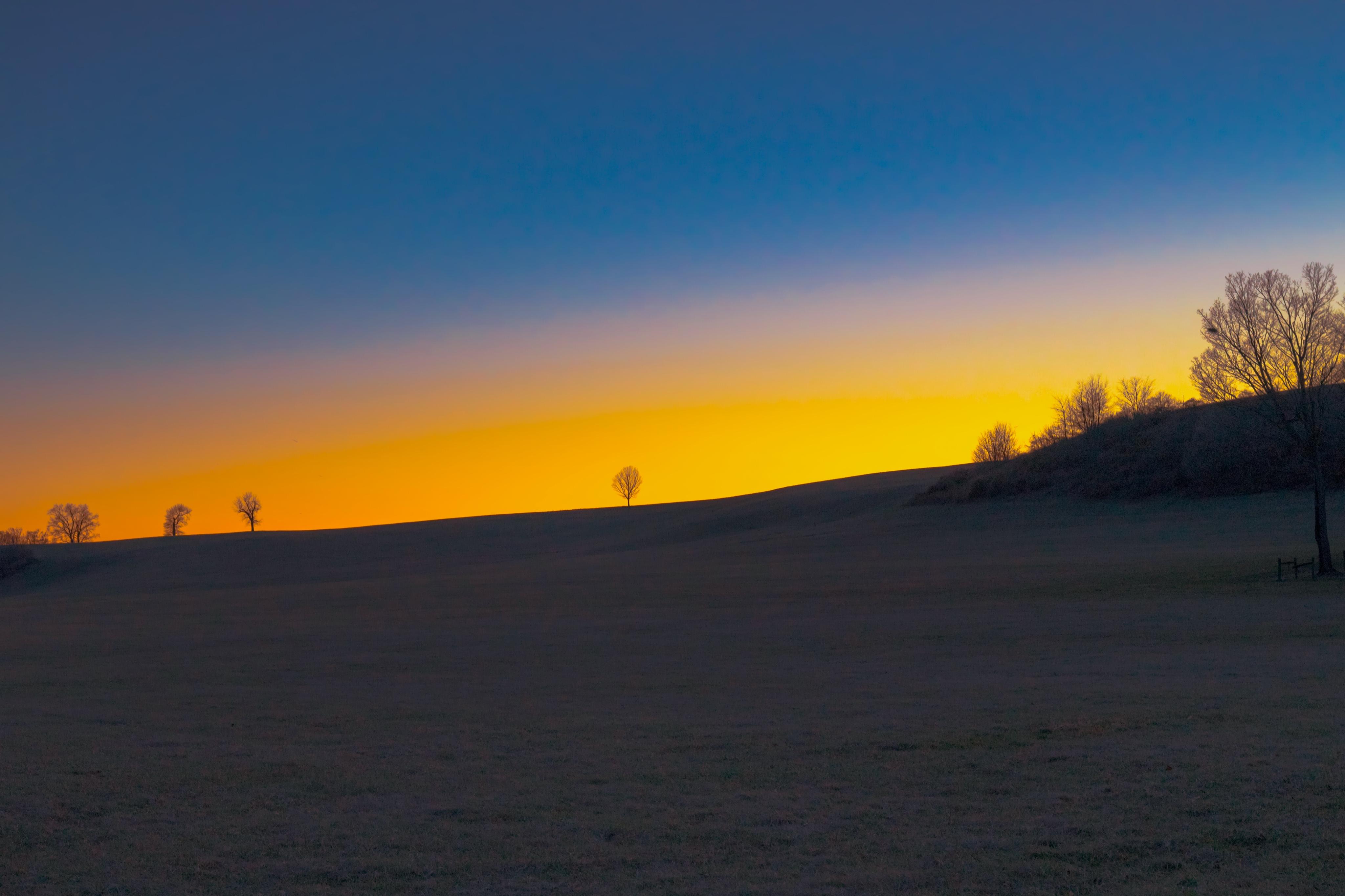 Sunset on Doe Run Ridge in Southeastern Pennsylvania