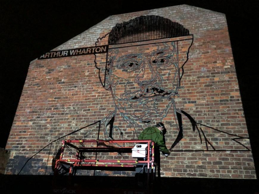 jay-kaes-arthurwharton-mural-jay-sketching