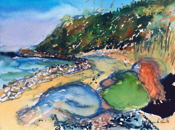 Harald Hoffmann de Vere - Ein Sommertag am Strand II - Sie lesend, ich malend