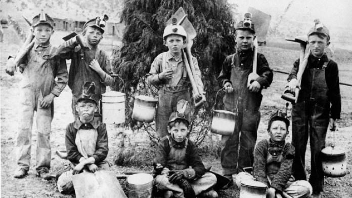 Παιδιά εργάτες στα ορυχεία του Κολοράντο