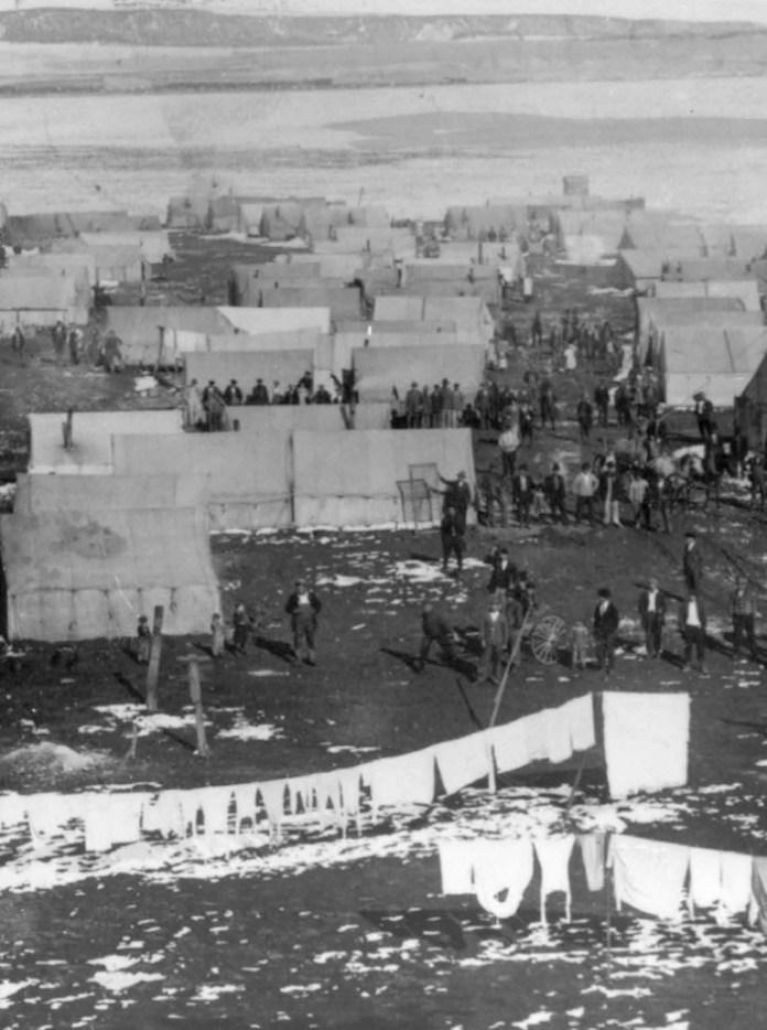 Ο καταυλισμός των απεργών ανθρακωρύχων στο Ludlow