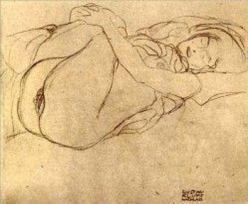 Dibujo erótico de Klimt