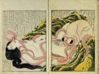 Dibujo Shunga de Katsushika Hokusai, 1814
