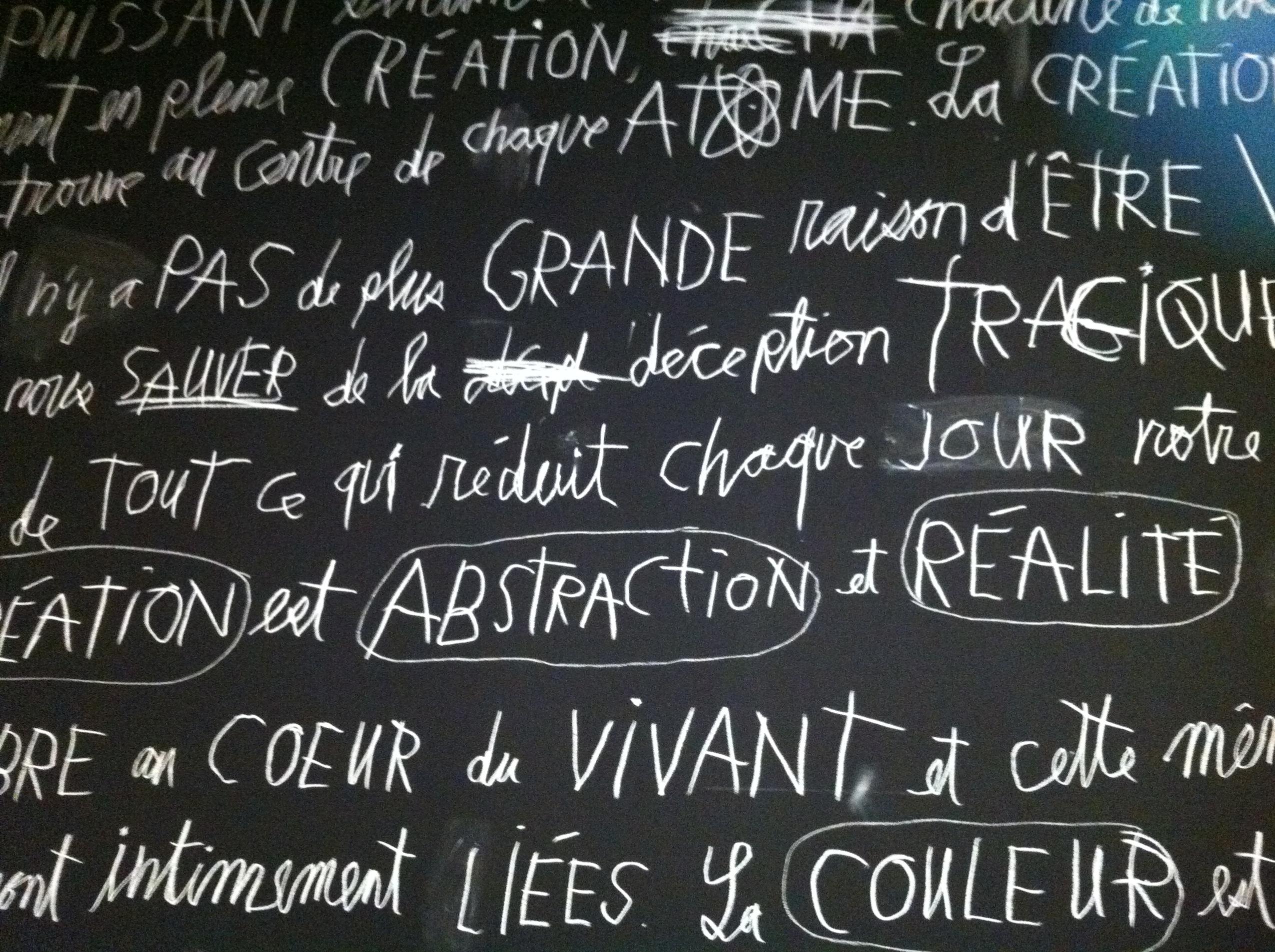 Muraille LINO, manifeste de sa pensée. Crédit photo : Simon Levesque.