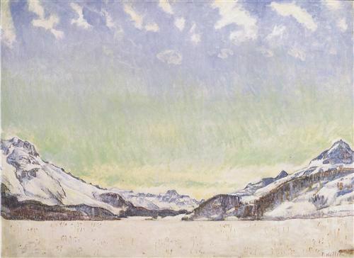 Ferdinand Hodler. Neige sur l'Engadine, 1907