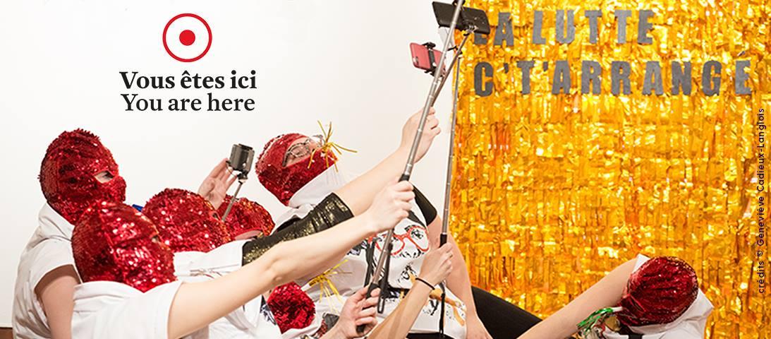 Visuel 2017 de Vous êtes ici. Crédit: Geneviève Cadieux-Langlois