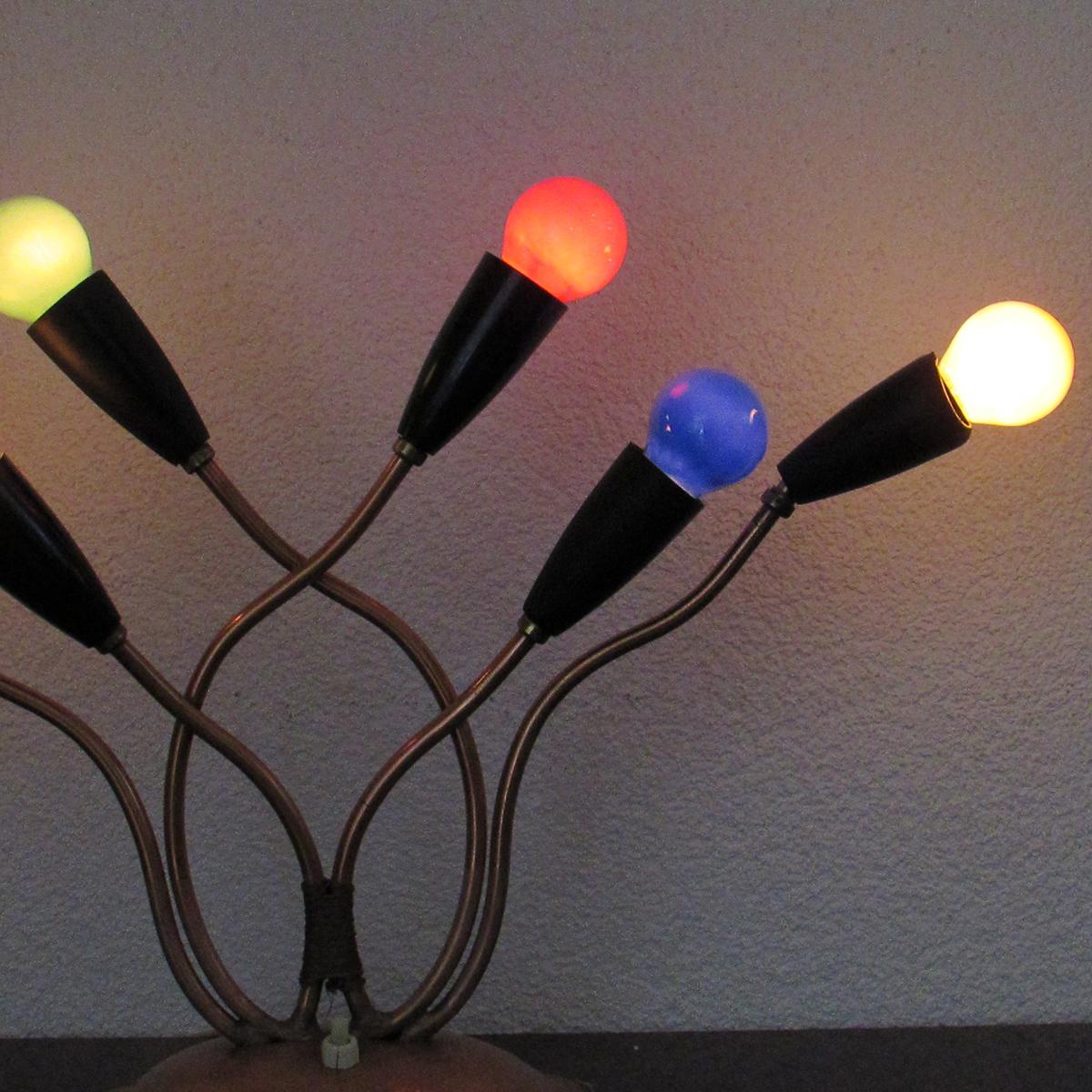 50 Multi Coloured Table Lamp Artichoke Vintage Furniture