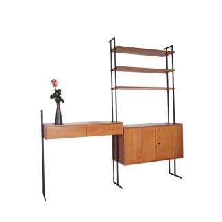 mid century vintage modular desk teak 1960