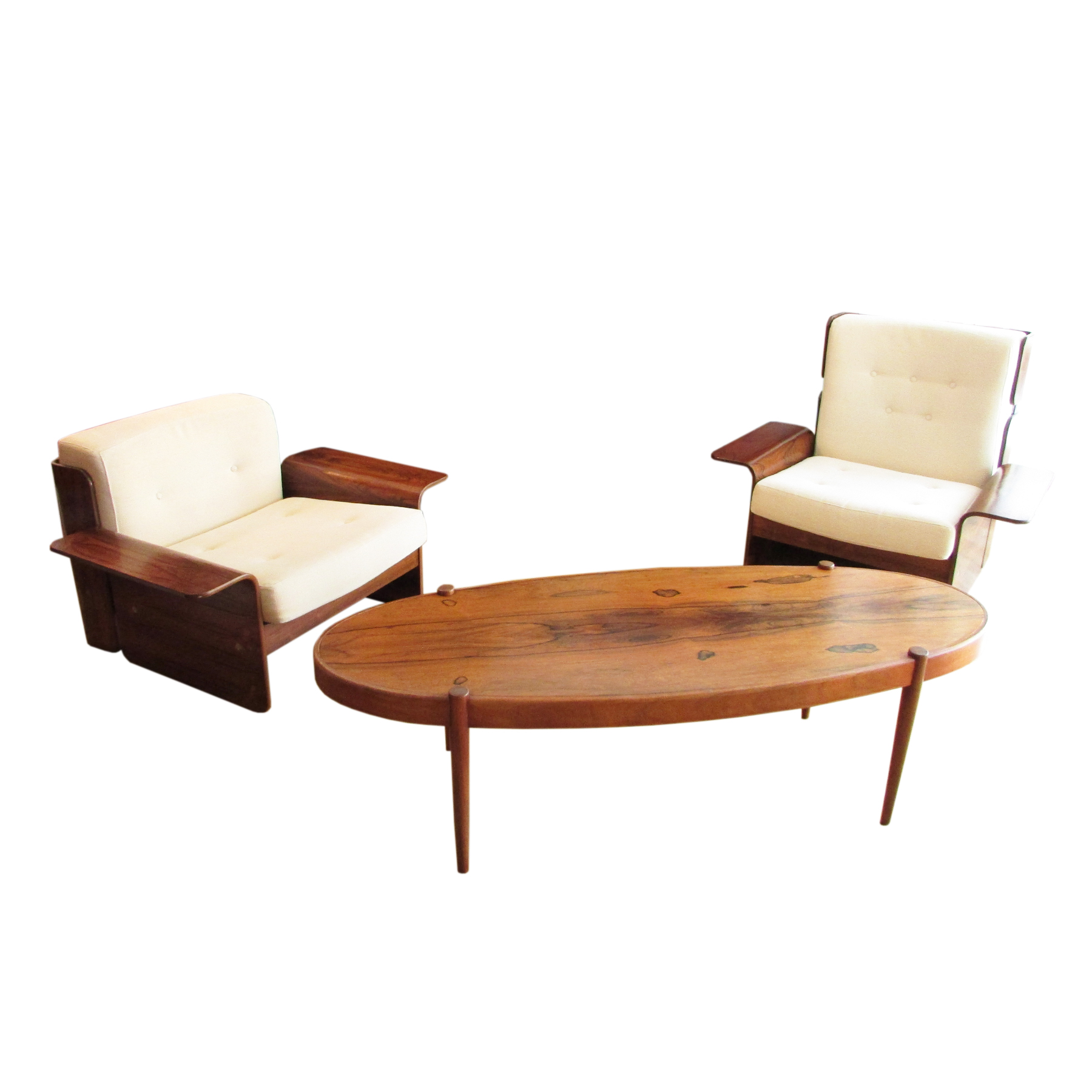 rosewood silkeborg set of chairs