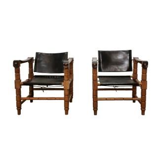 safari chair vintage leather