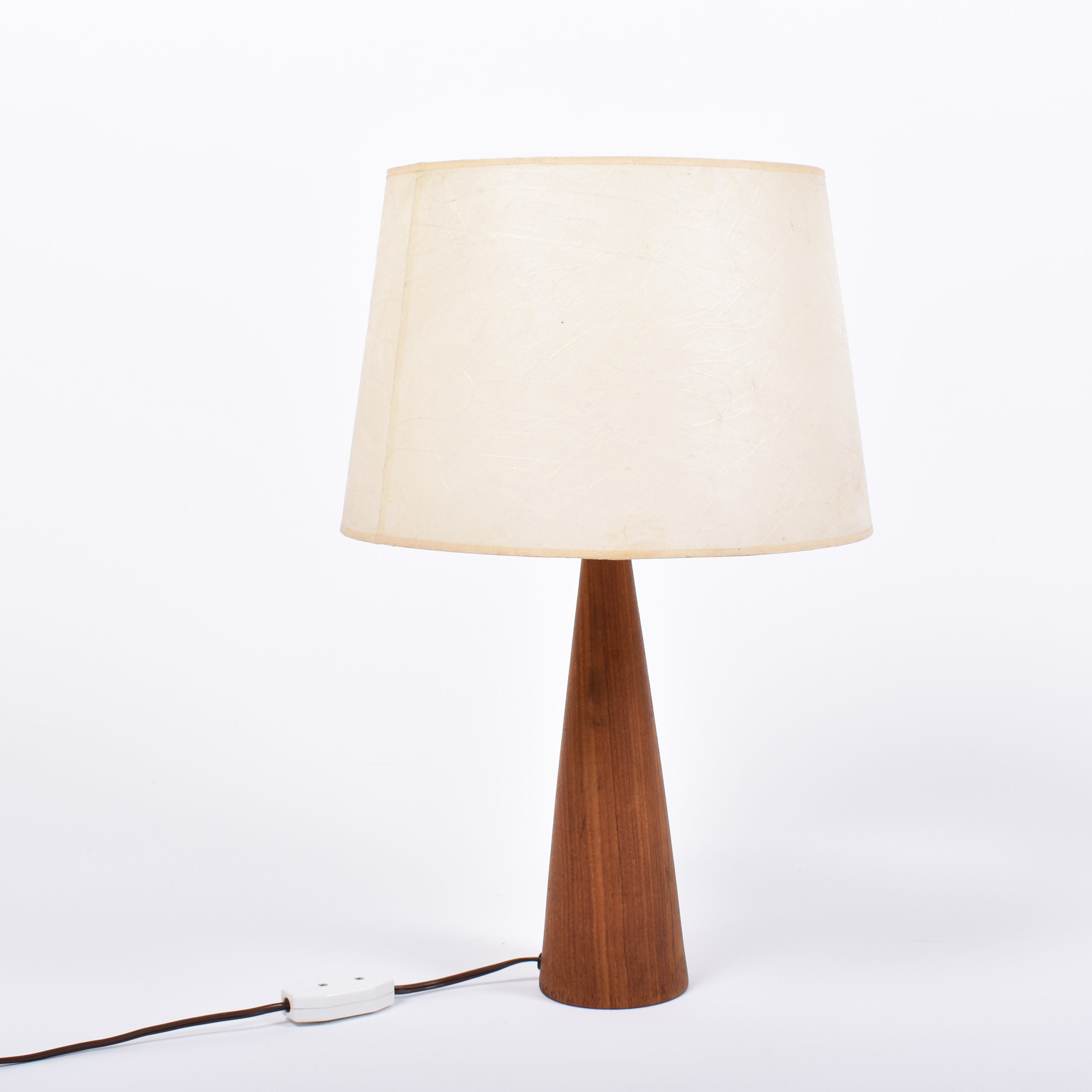 danish teak table lamp