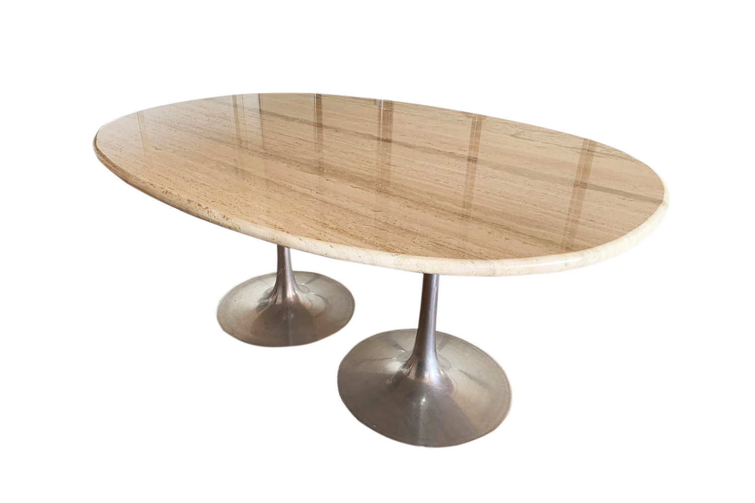 for sale travertine vintage dining table