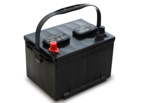 Best Car Battery Buying Guide   Consumer Reports Car battery that features a handle