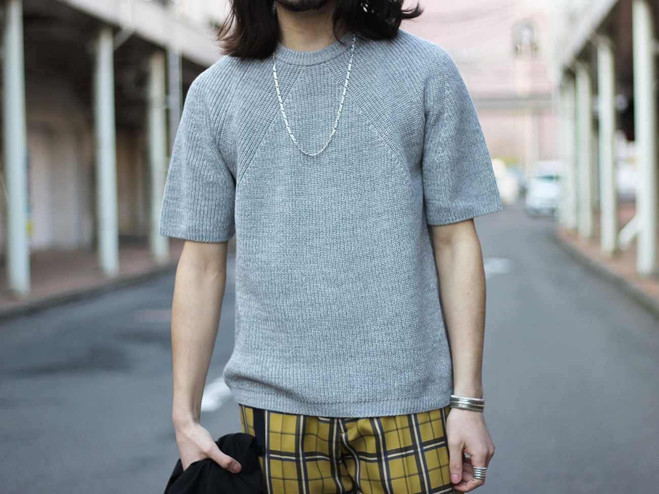 【BATONER】SHIGNATURE HALF-SLEEVE PULL-OVER