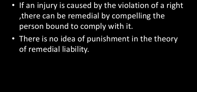 Theory of remedial liability
