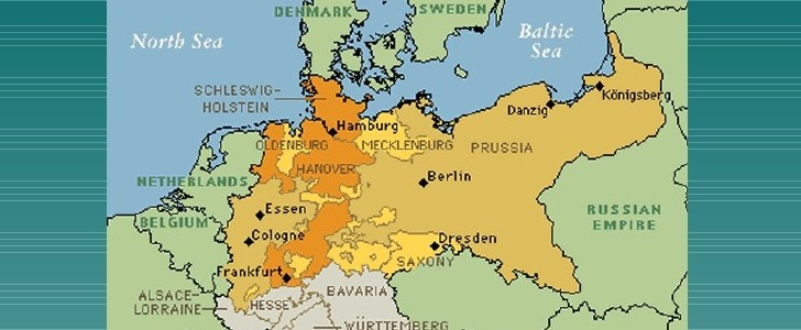 Map Of Germany Before Unification.Unification Of Germany Article1000 Com