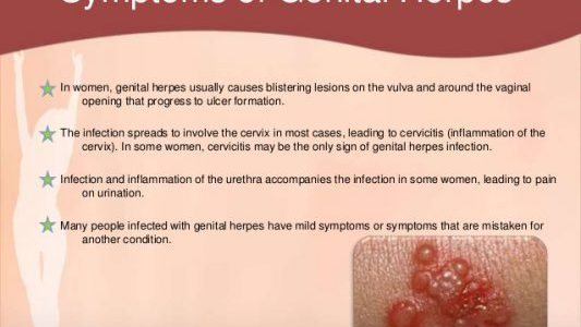 Genital Herpes - symptoms, causes and treatment - Article1000 com