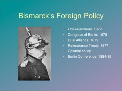 Aims Of Bismarck's Foreign Policy