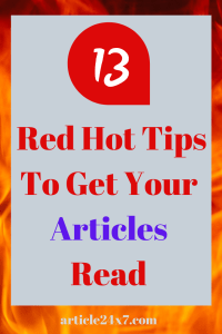 Get Your Articles Read
