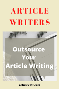 Article Writing Outsourcing