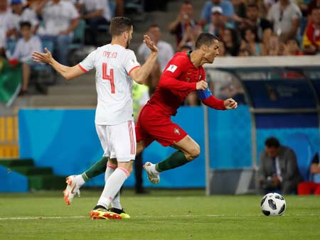 Portugal s Ronaldo Scores The First Goal In A Penalty ...