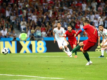 Portugal's Ronaldo Scores The First Goal In A Penalty ...