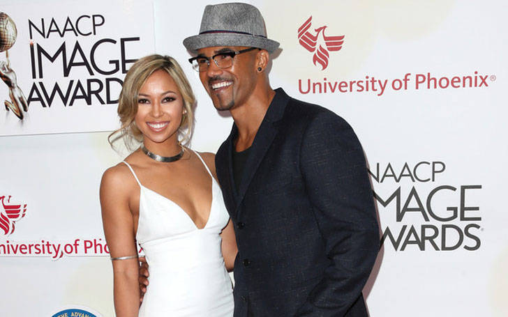 Wife His Moore Shemar 2017 And