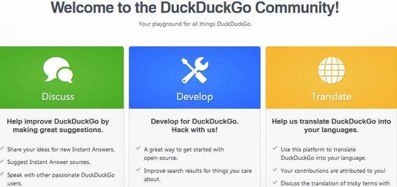 Comunidade de desenvolvimento do DuckDuckGo