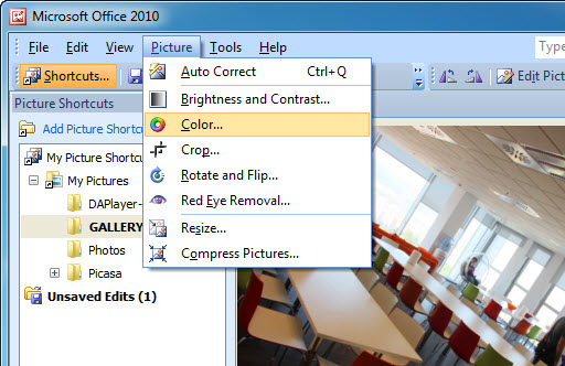 Microsoft Office Picture Manager Editing Marks ...