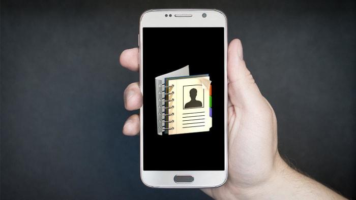 هاتف به تطبيق دفتر هاتف