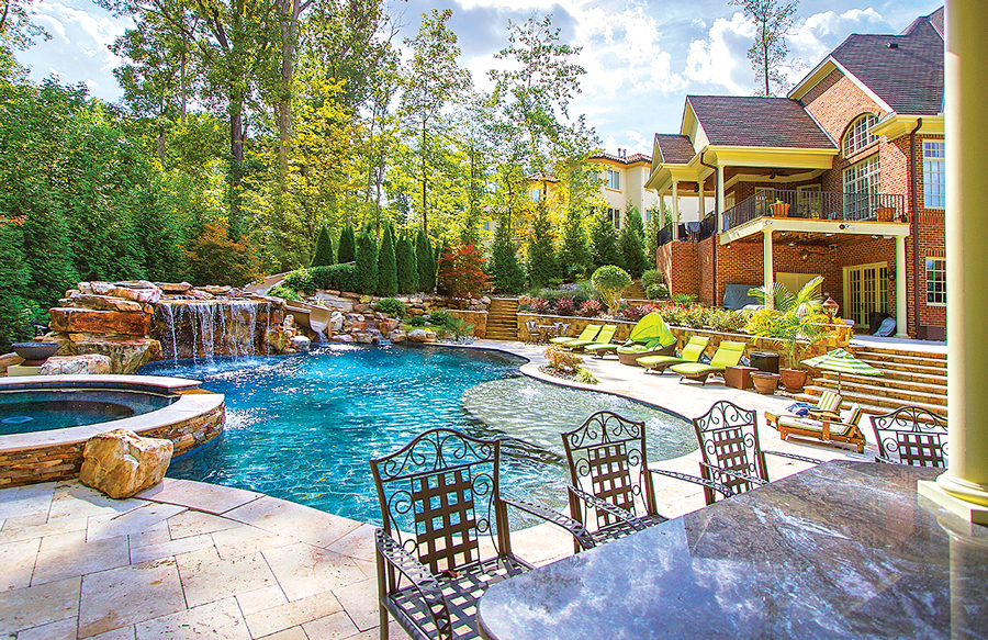 build a pool deck outdoor