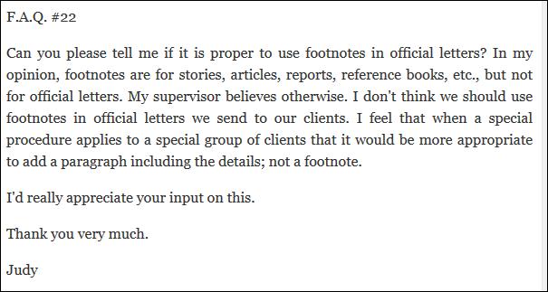 FootnotesAndOfficialLetters