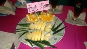 Food Art - Fish Bloom (cucumber and oranges)