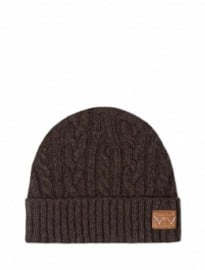 Edwin Chocolate Cable Oiler Beanie