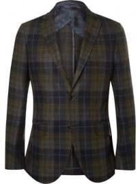 Etro Unstructured Check Wool-blend Blazer