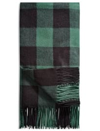 Next Oversized Woven Scarf Green Check