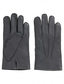Grey Leather Gloves Haindt1 In Lambskin By Boss